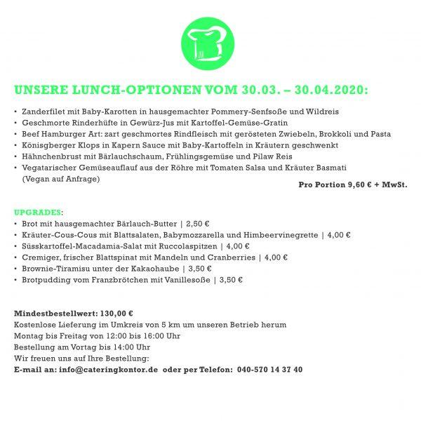 Unser Mittagsservice für Sie 1